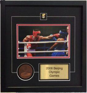 Boxing memorabilia framing