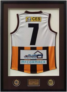 Footy jumper framed