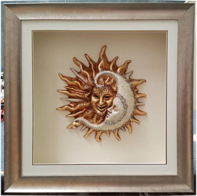 sun and moon framed